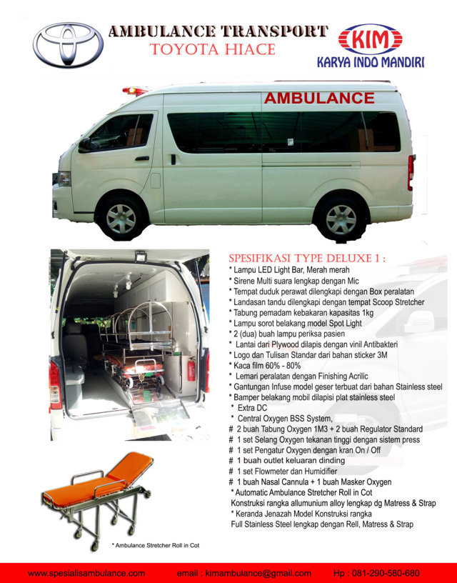 TOYOTA HIACE DELUXE 1 MULTIFUNGSI res